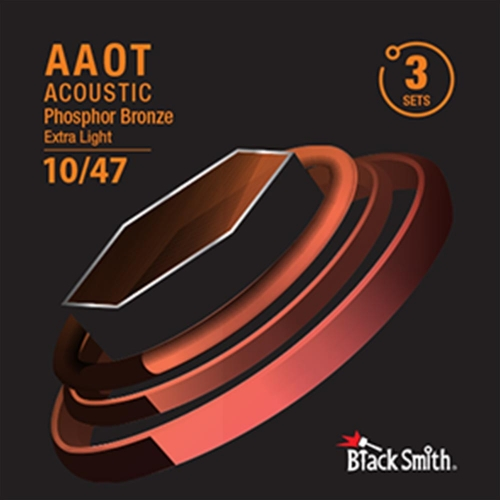 Blacksmith Phosphor bronzen Gitaarsnaren, Extra Light, 010-047, Met Coating