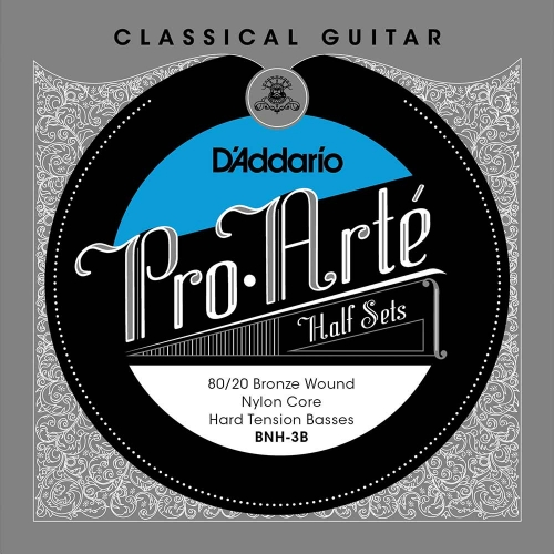 D'Addario BNH-3B Bass Set 80/20 Bronze Nylon Kern - Hoge Spanning