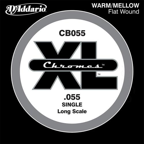 D'Addario CB055 Chromes Flatwound Losse Bassnaar .055