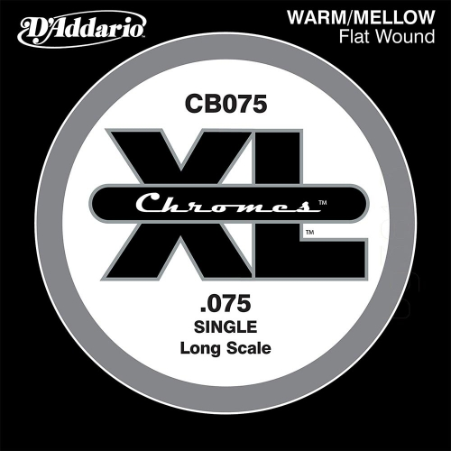 D'Addario CB075 Chromes Flatwound Losse Bassnaar .075