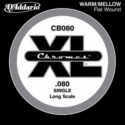 D'Addario CB080 Chromes Flatwound Losse Bassnaar .080
