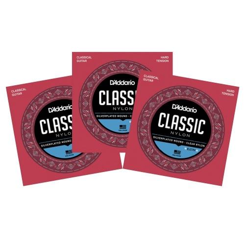 D'Addario EJ27H Klassieke Gitaarsnaren - Hoge Spanning 3-Pack