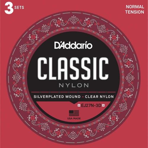 D'Addario EJ27N-3D 3-Pack klassieke gitaarsnaren