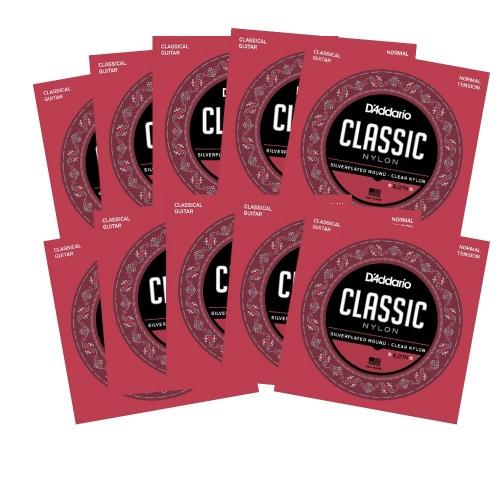 D'Addario EJ27N Klassieke Gitaarsnaren - Normale Spanning 10-Pack
