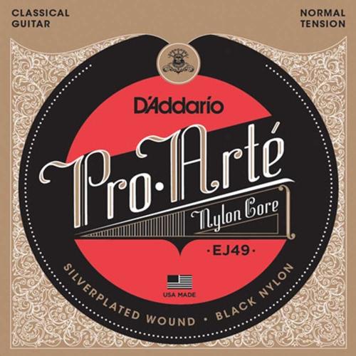 D'Addario EJ49 snaren, black nylon, klassiek