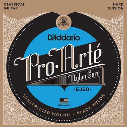 D'Addario EJ50 Black Nylon Klassieke Gitaarsnaren - Hoge Spanning
