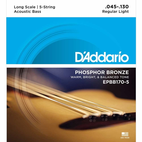 D'Addario EPBB170-5 Acoustic .045 - .130