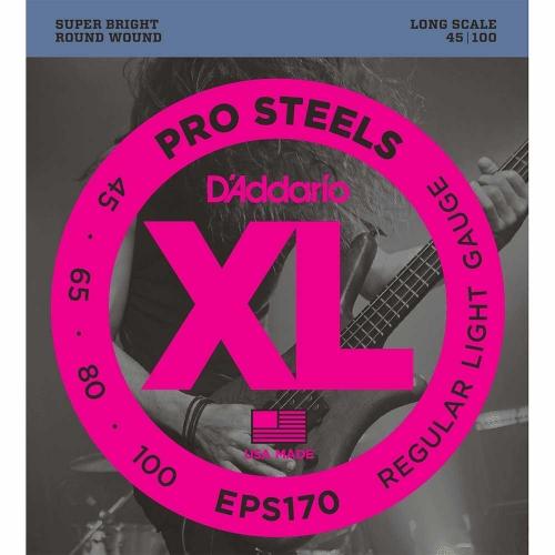 D'Addario EPS170 ProSteels Bassnaren (45-100)