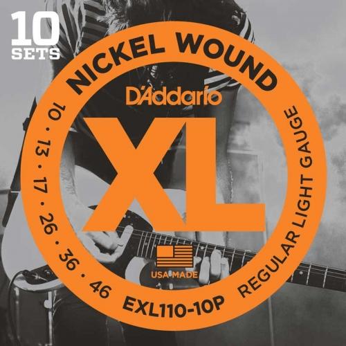 D'Addario EXL110-10P snaren 10-pack (10-46)