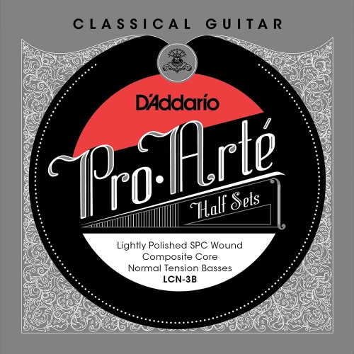D'Addario LCN-3B Bass Set Lightly Polished - Normale Spanning