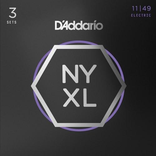 D'Addario NYXL1149-3P Elektrische Gitaarsnaren (11-49) Medium 3-Pack