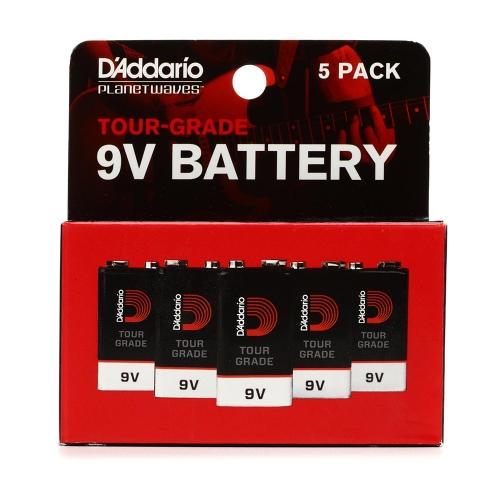 D'Addario PW-9V-02 9V-Batterijen 5-Pack