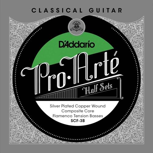 D'Addario SCF-3B Bass Set Silver Plated Copper Composiete Kern - Flamenco Spanning