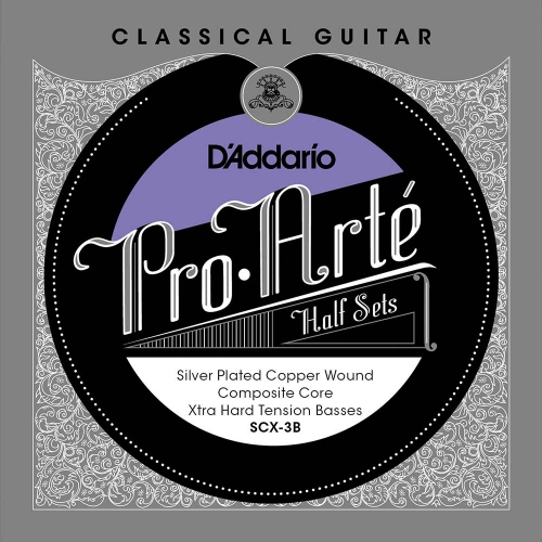 D'Addario SCX-3B Bass Set Silver Plated Copper Composiete Kern - Extra Hoge Spanning