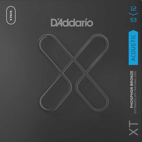 D'Addario XTAPB1253-3P Akoestische Gitaarsnaren (12-56) 3-Pack