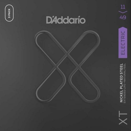 D'Addario XTE1149-3P Elektrische Gitaarsnaren (11-49) 3-Pack