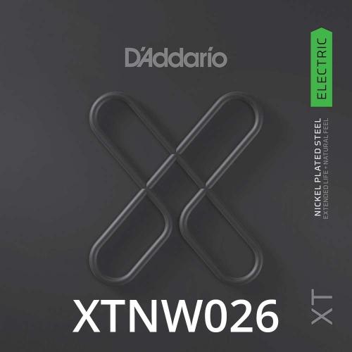 D'Addario XTNW026 XT Nickel Wound Losse Elektrische Snaar .026