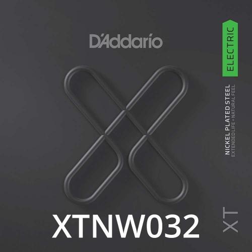 D'Addario XTNW032 XT Nickel Wound Losse Elektrische Snaar .032