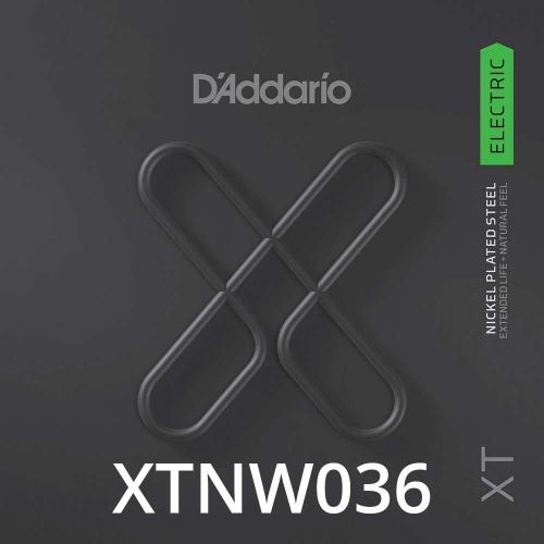 D'Addario XTNW036 XT Nickel Wound Losse Elektrische Snaar .036