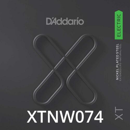 D'Addario XTNW074 XT Nickel Wound Losse Elektrische Snaar .074