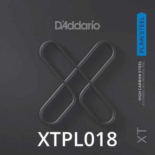 D'Addario XTPL018 Plain Steel XT Losse Snaar .018