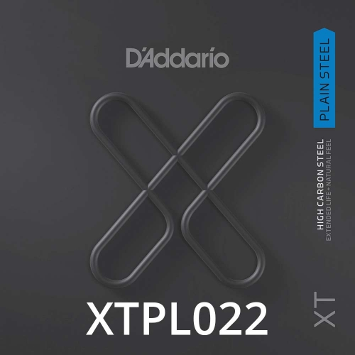 D'Addario XTPL022 Plain Steel XT Losse Snaar .022