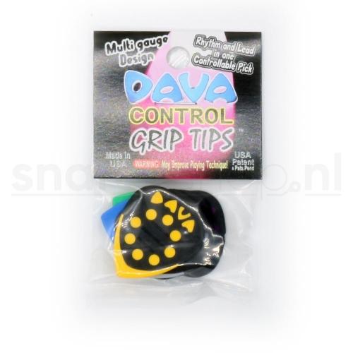 Dava Control Grip Tips Delrin Plectrum 6-Pack