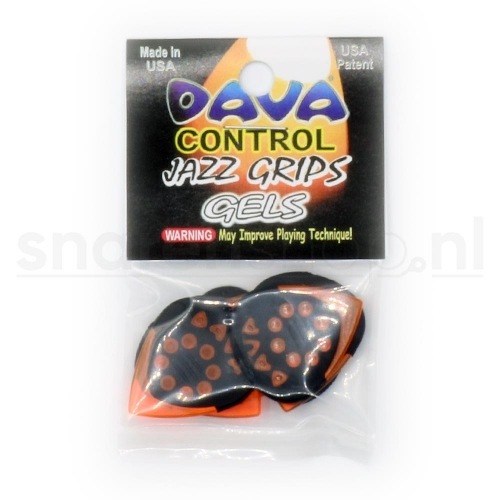 Dava Control Jazz Grips Gels Plectrum 6-Pack
