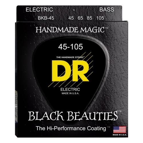 DR Strings BKB45 Black Beauties K3-Coated Bassnaren (45-105)