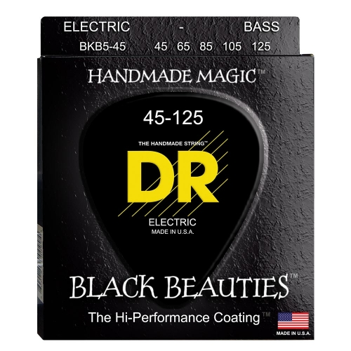 DR Strings BKB5-45 Black Beauties Coated Bassnaren 5-Snarig (45-125)
