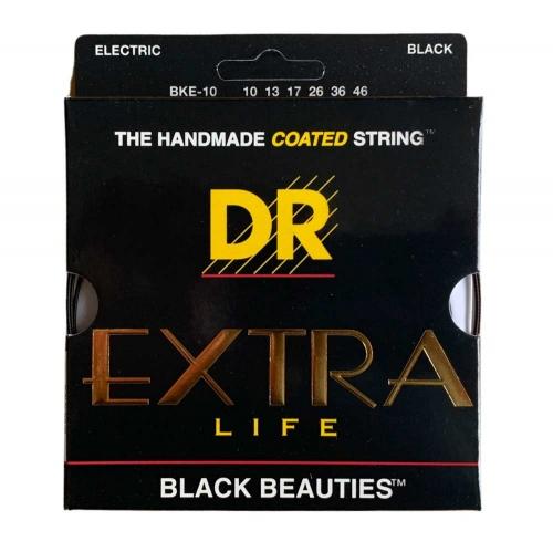DR Strings BKE10 Black Beauties Coated Gitaarsnaren (10-46)