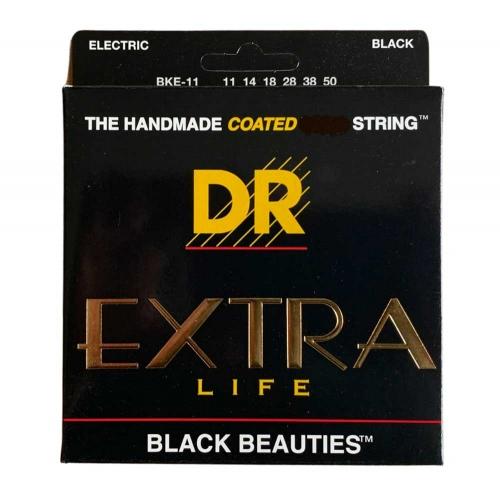 DR Strings BKE11 Black Beauties Coated Gitaarsnaren (11-50)