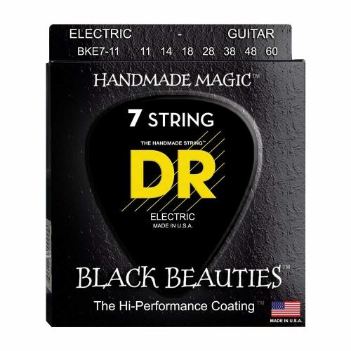 DR Strings BKE7-11 Black Beauties Coated Gitaarsnaren 7-Snarig (11-60)