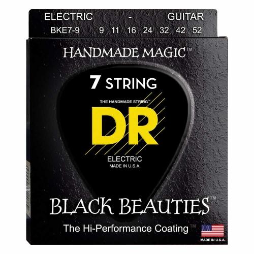 DR Strings BKE7-9 Black Beauties Coated Gitaarsnaren 7-Snarig (9-52)