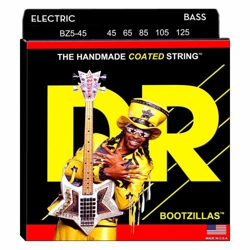 DR Strings BZ5-45 Bootzillas Bassnaren 5-Snarig Coated (45-125)
