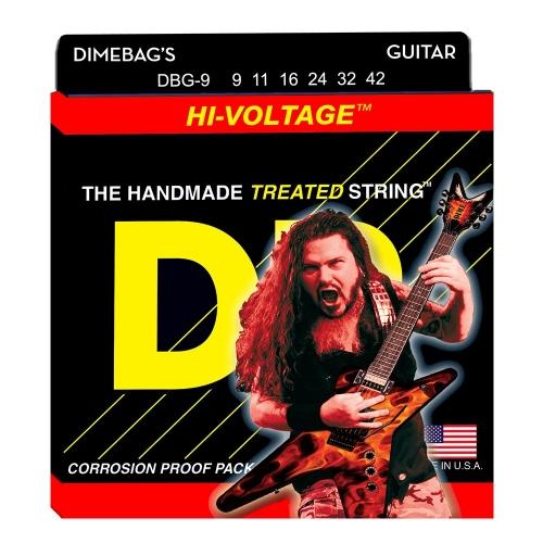 DR Strings DBG9-42 Dimebag Darrell Hi-Voltage Gecoate Gitaarsnaren (9-42)