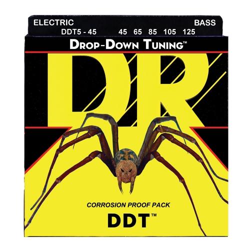 DR Strings DDT5-45 Drop Tuning Bassnaren 5-Snarig (45-125)