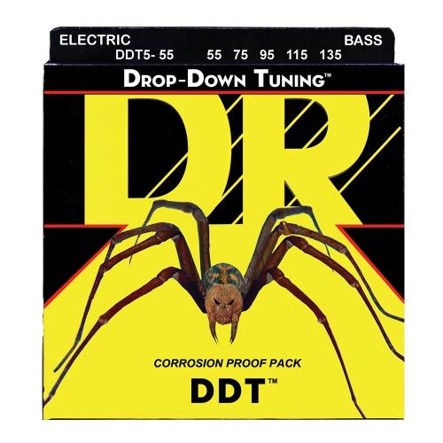 DR Strings DDT5-55 Drop Tuning Bassnaren 5-Snarig (55-135)