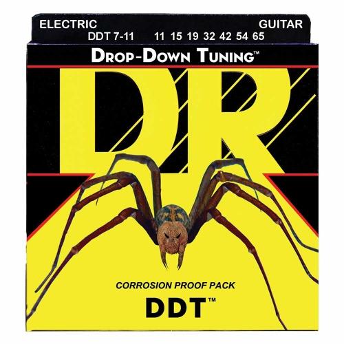DR Strings DDT711 Drop Down Tuning Elektrische Snaren (11-65) 7-Snarig
