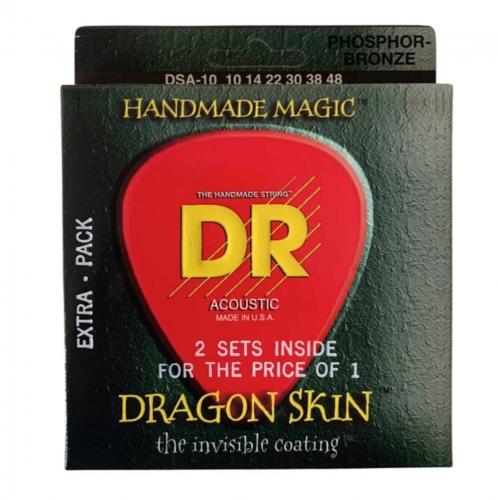 DR Strings DSA2-10 Dragon Skin Akoestische Gitaarsnaren (10-48) 2-Pack