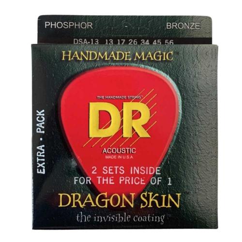 DR Strings DSA2-13 Dragon Skin Akoestische Gitaarsnaren (13-56) 2-Pack