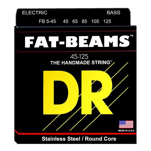 DR Strings FB5-45 Fat Beams Bassnaren 5-Snarig (45-125)
