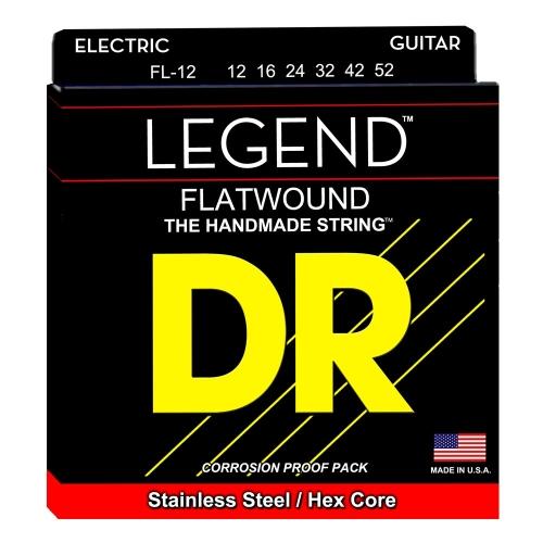 DR Strings FL-12 Legend Flatwound Gitaarsnaren (12-52)