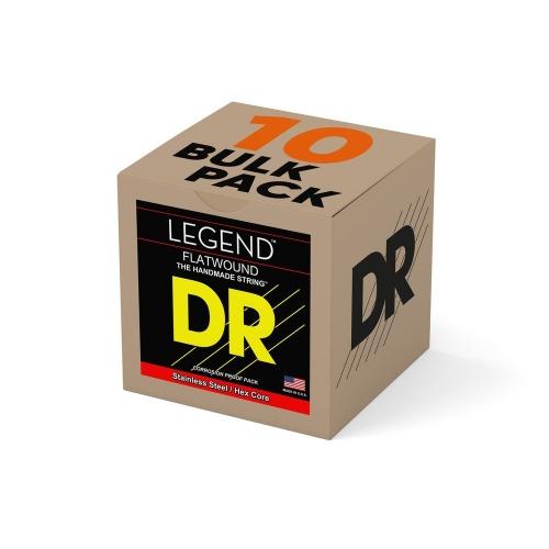 DR Strings FL-11 Legend Flatwound Gitaarsnaren Bulk 10-Pack