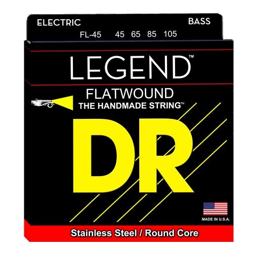 DR Strings FL45 Legend Flatwound Bassnaren (45-105)