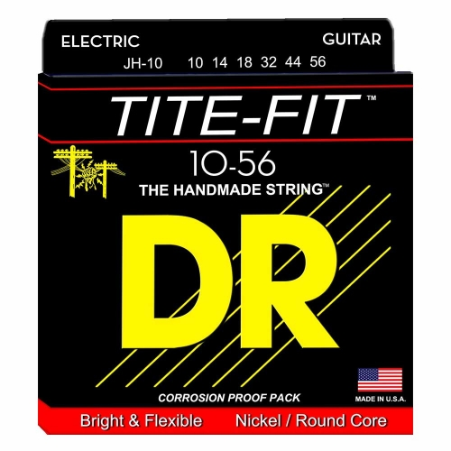 DR Strings JH10 Tite-Fit Elektrische Snaren (10-56) Jeff Healey Signature