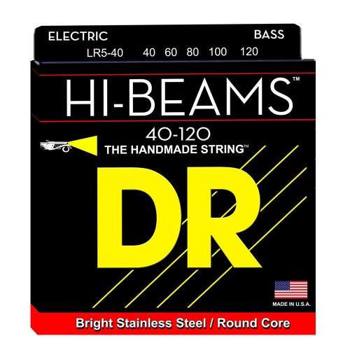 DR Strings LR5-40 Hi-Beam Bassnaren 5-Snarig (40-120)
