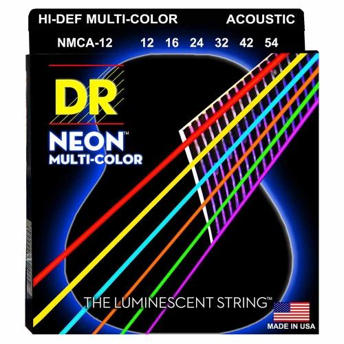 DR Strings MCA12 Neon Multicolor Akoestische Snaren (12-54), K3 Coating