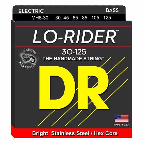DR Strings MH6-30 Lo-Rider Bassnaren 6-Snarig (30-125)