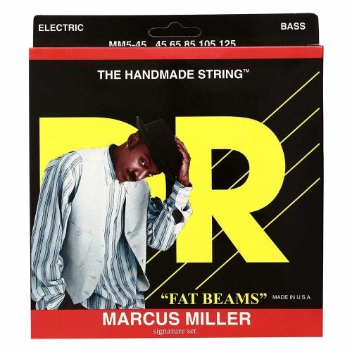 DR Strings MM5-45 Marcus Miller Fat Beams Bassnaren 5-Snarig (45-125)